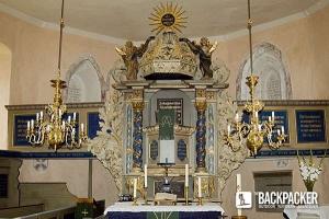 Innenansicht der Kirche in Bötzow