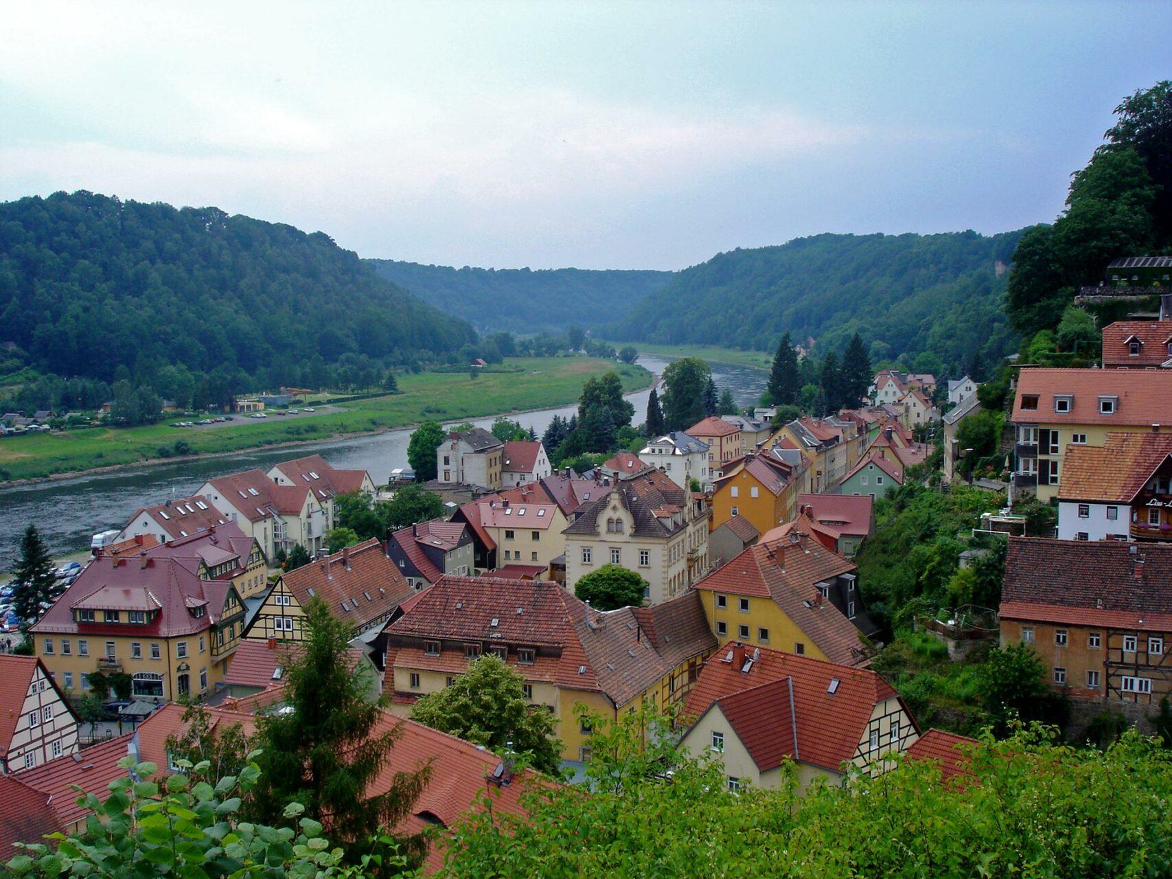 Die Stadt Wehlen an der Elbe