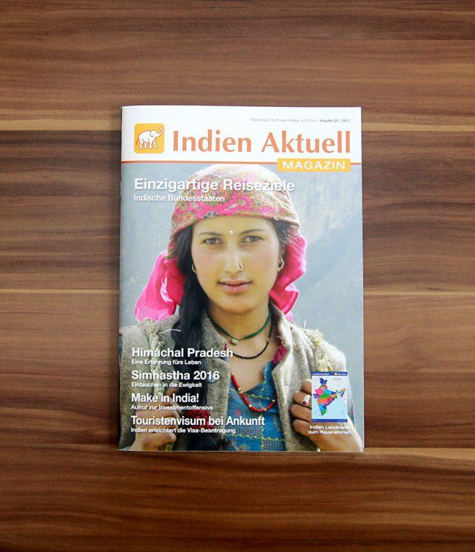 Vierteljährlich erscheinend und randvoll mit Informationen rund um Indien. Die aktuelle Ausgabe des Magazins: Q1/2015.