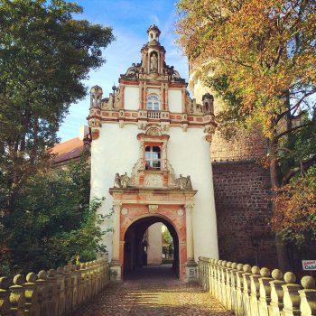 Eingang zum Schloss oder zur Wohnung, je nachdem was man hier sucht