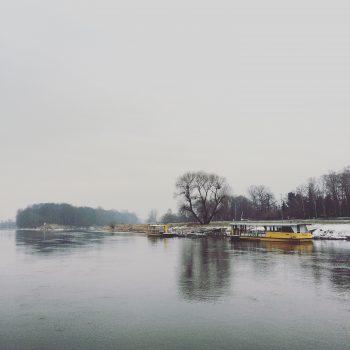 Mit der Fähre des ÖPNV setze ich zum Schloss Pillnitz über die Elbe
