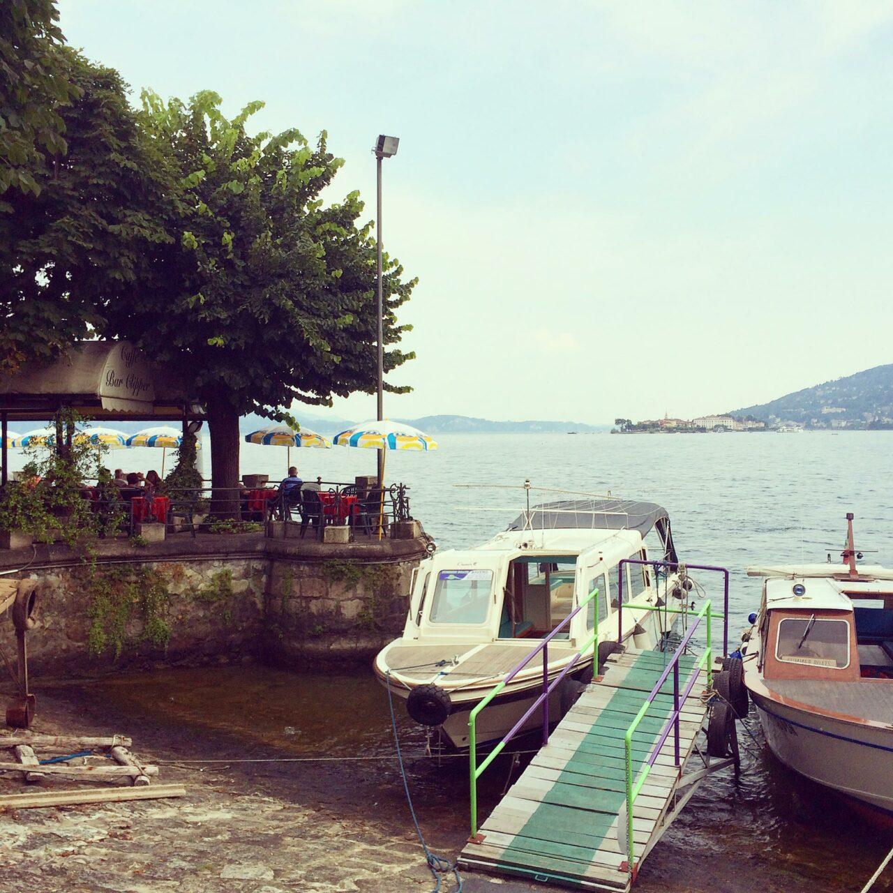 Los geht die Inseltour am Hafen von Baveno