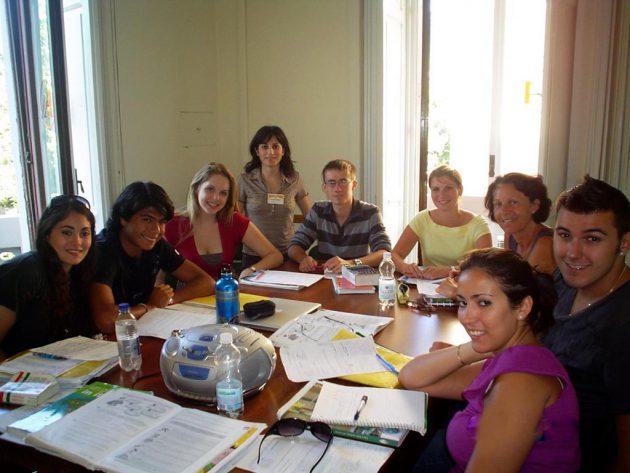 Im Klassenzimmer der Sprachschule in Salerno