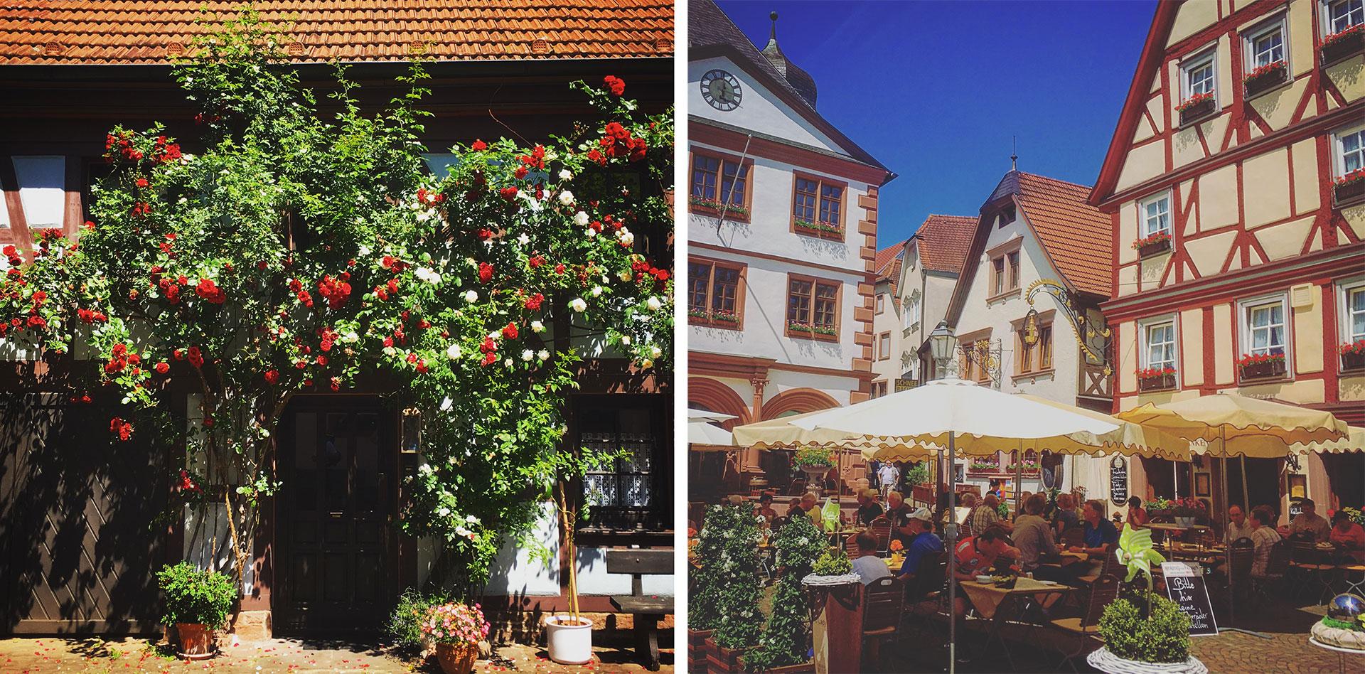 Die Altstadt von Lohr am Main lädt mit seinen verwinkelten Gassen zum Bummeln und Verweilen.