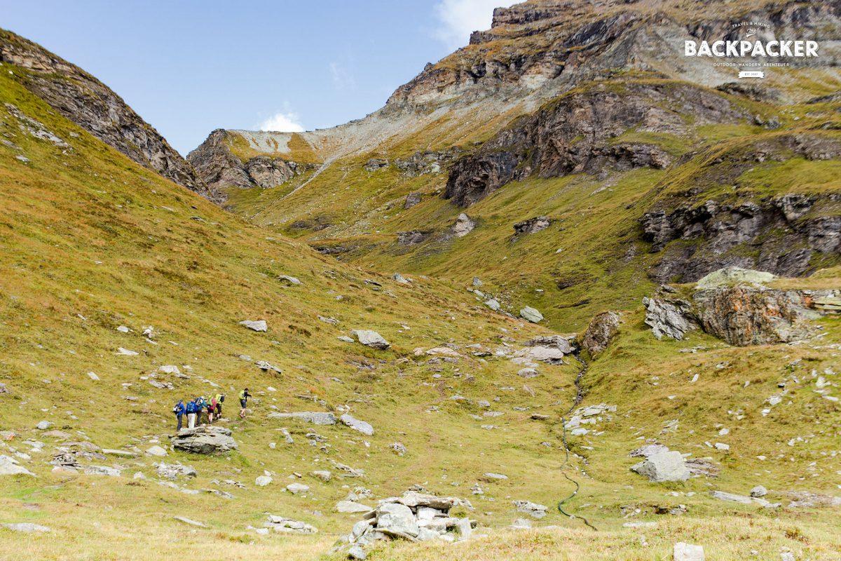 Kurz vom Pass des Colle Pinter heißt es nochmals kräftig Höhenmeter machen.