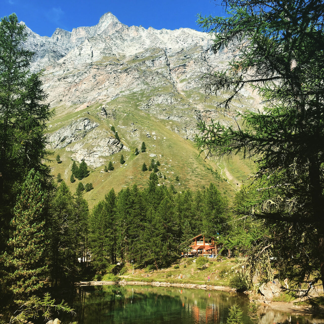 Am Lago Pellaud findet jeder Wanderer seine romantische Ausblicke.