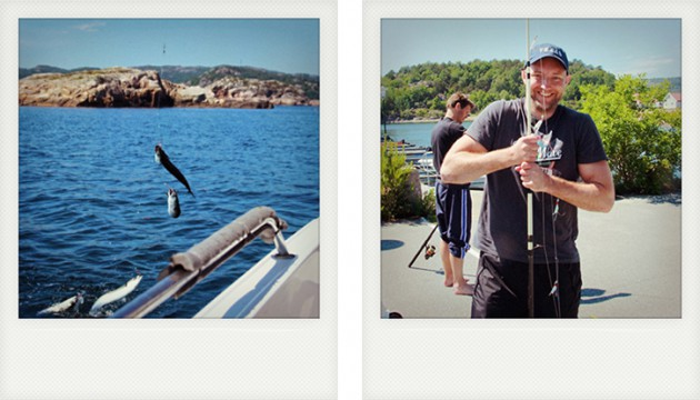 Fischen im Gronsfjord in Norwegen