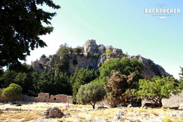 Das byzantinische Kastell aus dem 11. Jahrhundert. Oder vielmehr  Reste davon.