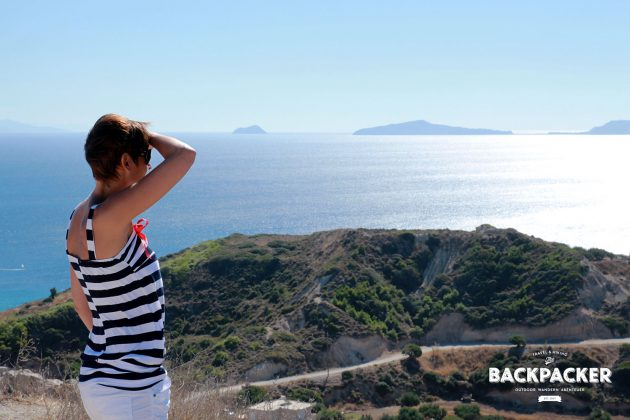 Vom Castell in Kefalos genießen wir atemberaubende Blicke auf das ägäische Meer.