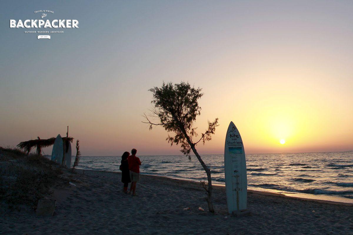 Der Sonnenuntergang auf Kos zählt zu den Highlights der Insel. Wie hier bei Tigaki.