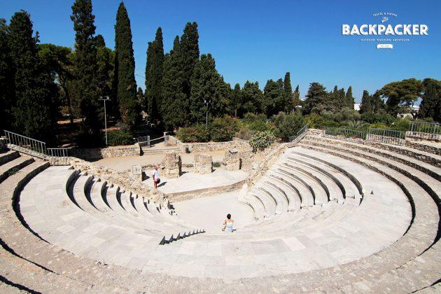 Spielen zur Schau: das Amphitheater von Kos (Odeon).