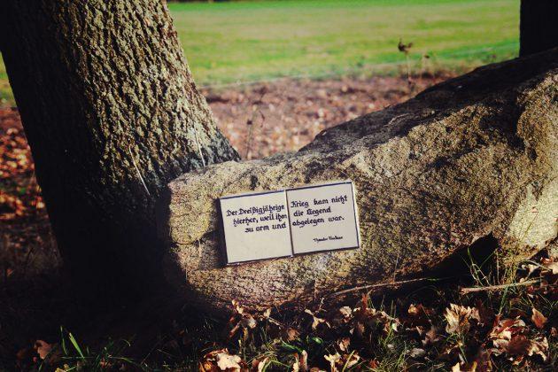 Der Gedenkpfad zur Erinnerung an den 30-jährigen Krieg bei Rädigke