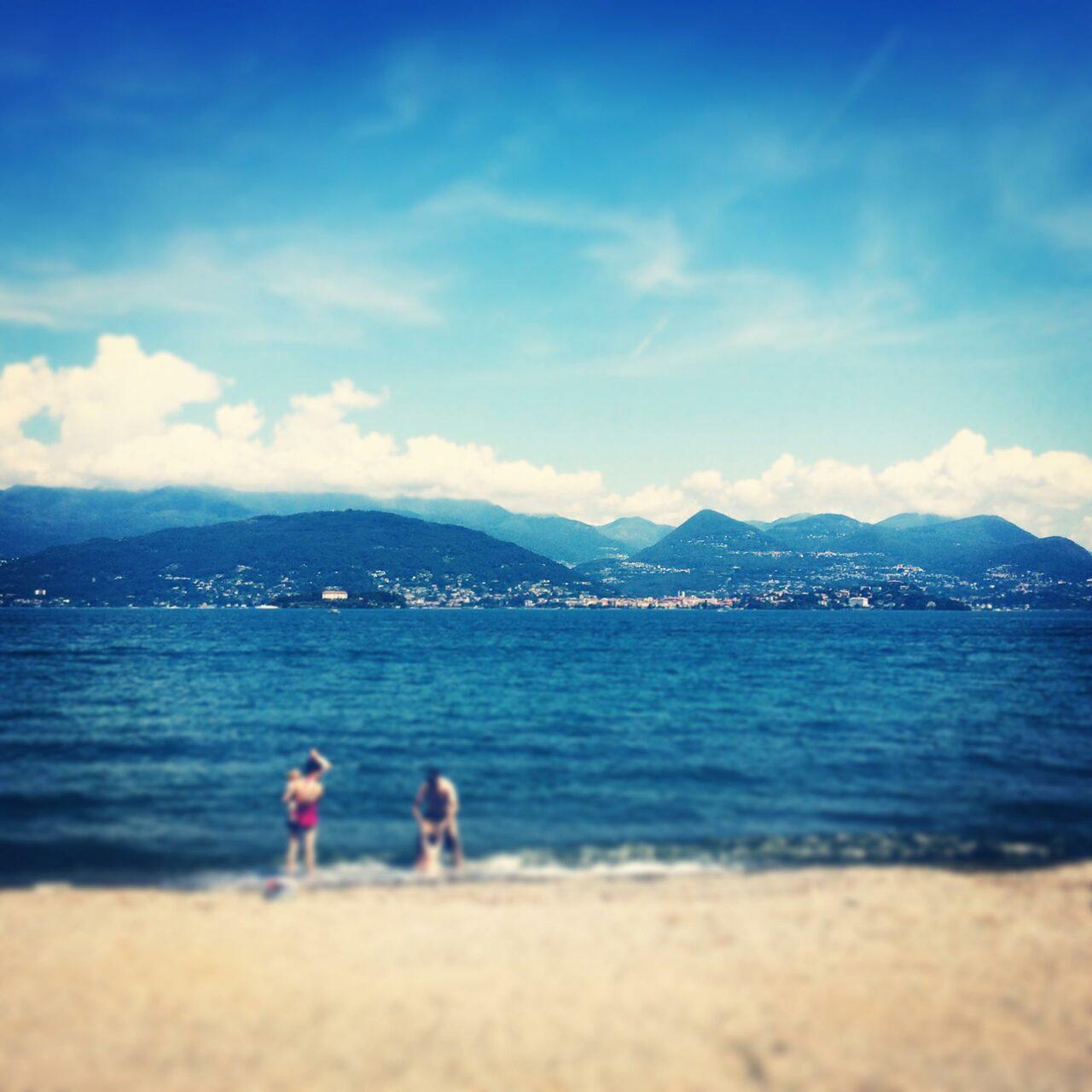 Aber auch so kann Baden im Lago Maggiore ausschauen. Leider erst am Abreisetag