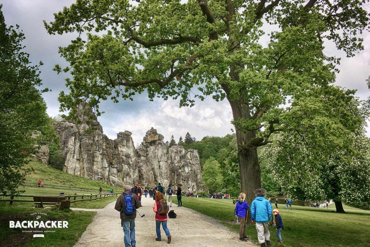 Ein bißchen Sandstein gibt es auch im Teutoburger Wald: die Externsteine.