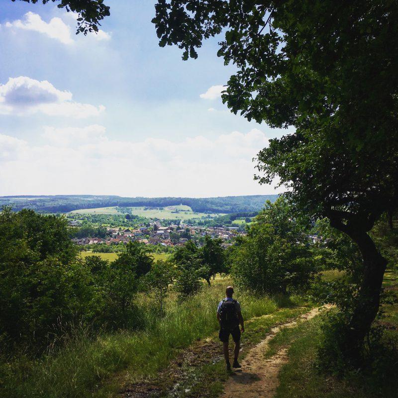 Vom Tal auf die Berge und umgekehrt. Hier im Tal: Eschau.