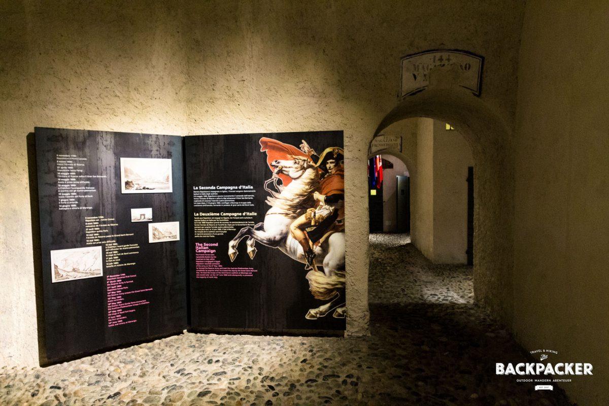 Die Dauerausstellung zeigt Geschichte und Geschichten – leider nur in französisch, englisch und italienisch.