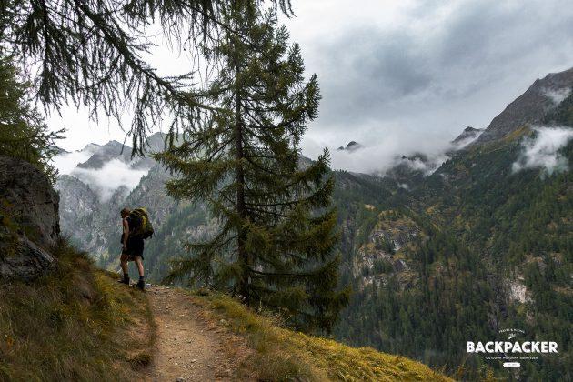 Steinig und steil sind die Wege. Hier hinauf zum Rifugio Alpenzu in knapp 1.800 Meter Höhe gelegen.