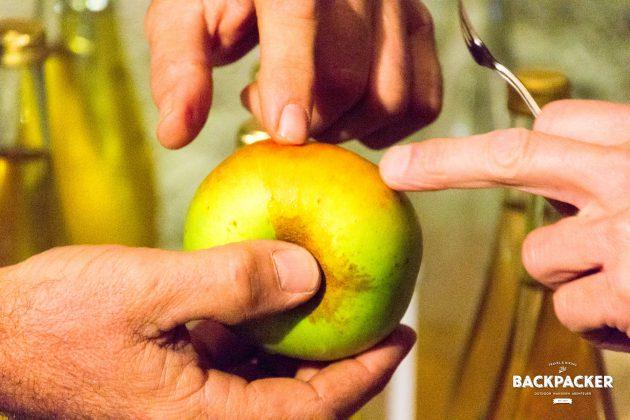 Die Apfelsorte Renetta galt bislang als zu sauer für den Verzehr und zu klein um Großes daraus zu machen. Die Azienda Agricola Saint Grat hat ihn wiederentdeckt und keltert seit Jahren den besten Apfelsaft, den ich je getrunken habe.