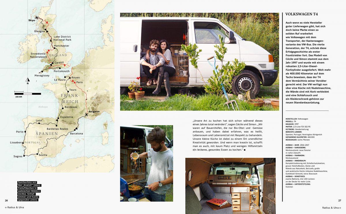 """Familienfoto mit Van """"Anatoli"""", einem Volkswagen T4 von 1997   © Gestalten Verlag"""