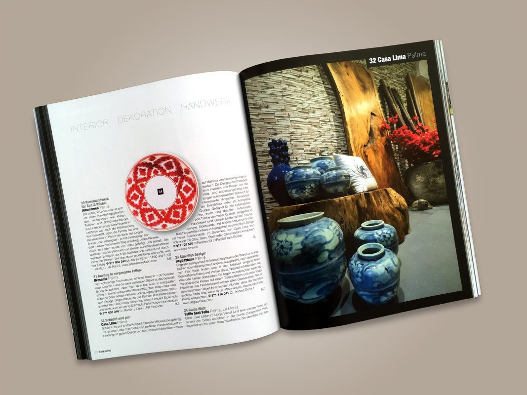 """Doppelseite aus dem Magazin """"Mallorcas Schöne Seiten"""" // Mit freundlicher Genehmigung des Verlags © Stefan Loiperdinger"""