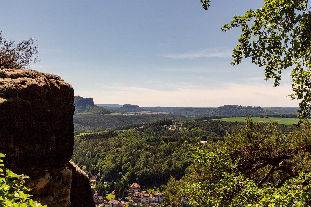 Königstein, Lilienstein, Pfaffenstein – von der Bastei aus sieht man sie alle