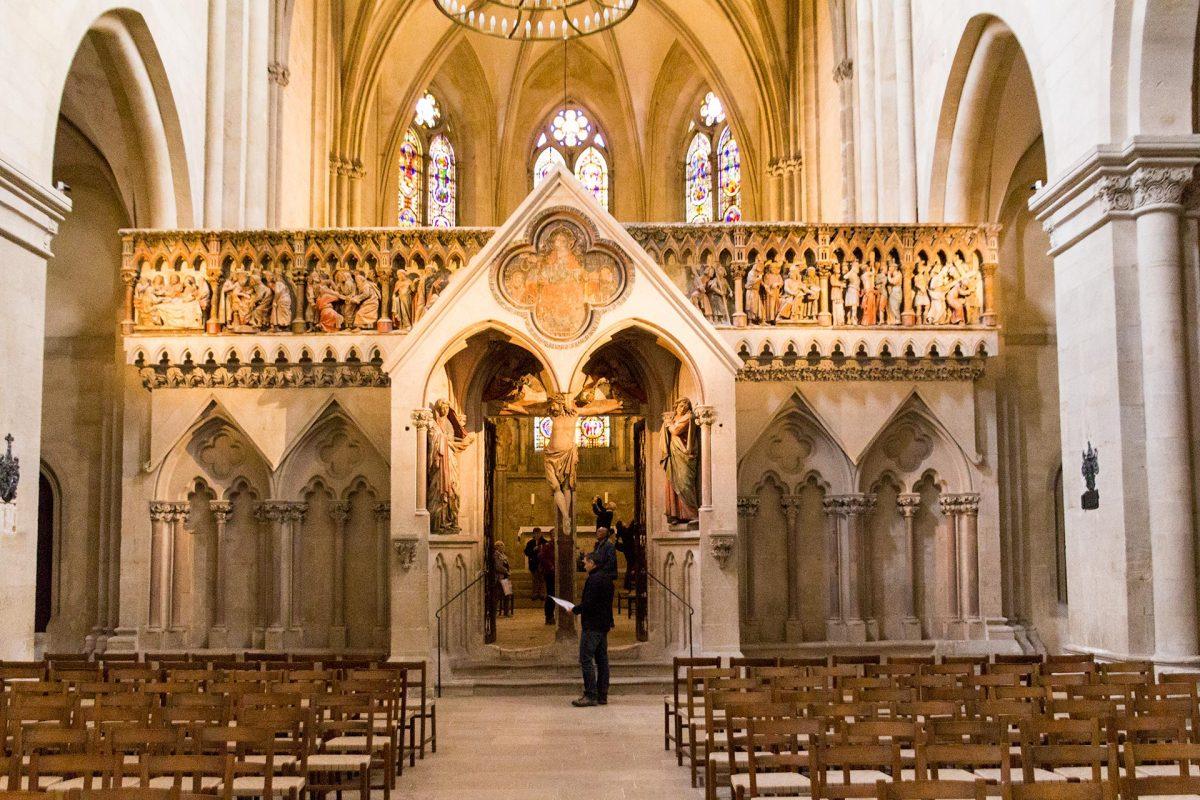 Eines der Prunkstücke des Doms in Naumburg: der Lettner Westchor