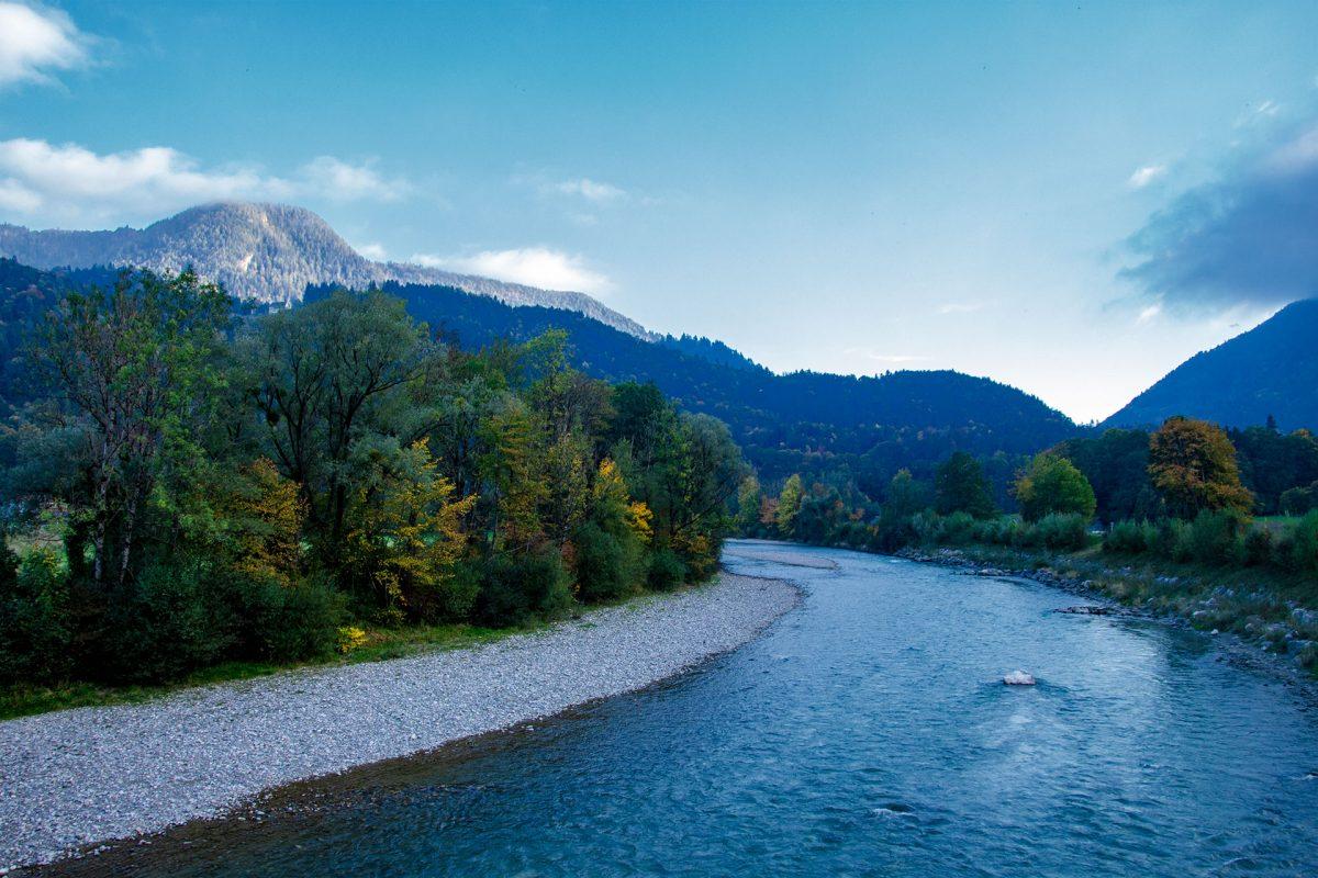 Der Tiroler Achen nahe Schleching