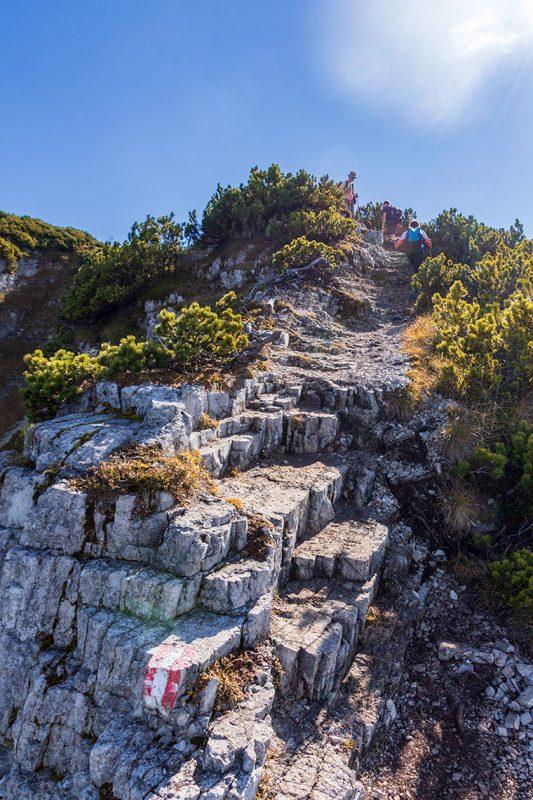 Mit ein wenig Schwindelfreiheit ist das Unterberghorn (1.773m) gut zu meistern.
