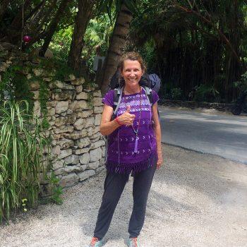 Seit 40 Jahren mit dem Backpack unterwegs (Tulum, Mexico) // © Gitti Müller, privat