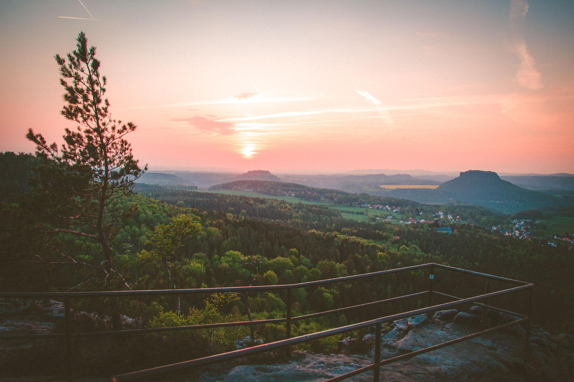 Sonnenuntergang auf dem Gohrisch