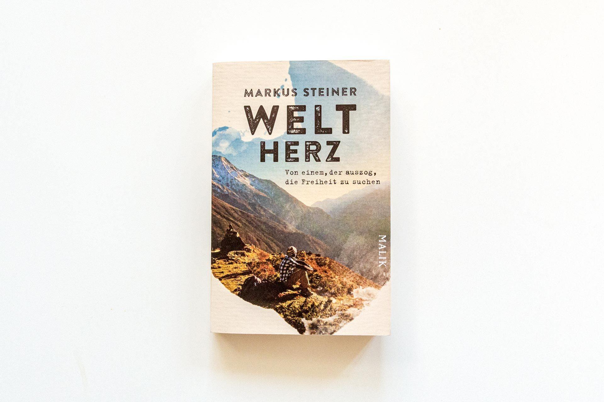 """Einband des tollen Buches """"Weltherz"""" von Markus Steiner"""