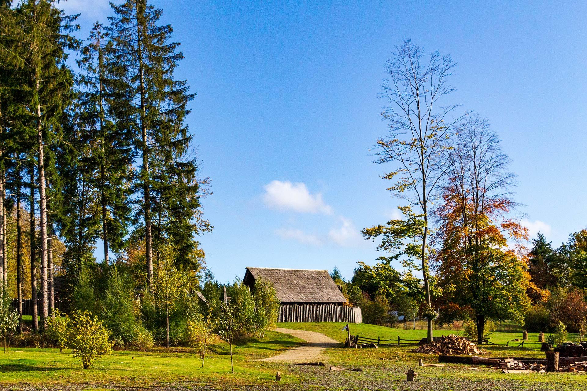 Originalgetreu nachempfunden: eine Siedlung der Kelten bei Otzenhausen