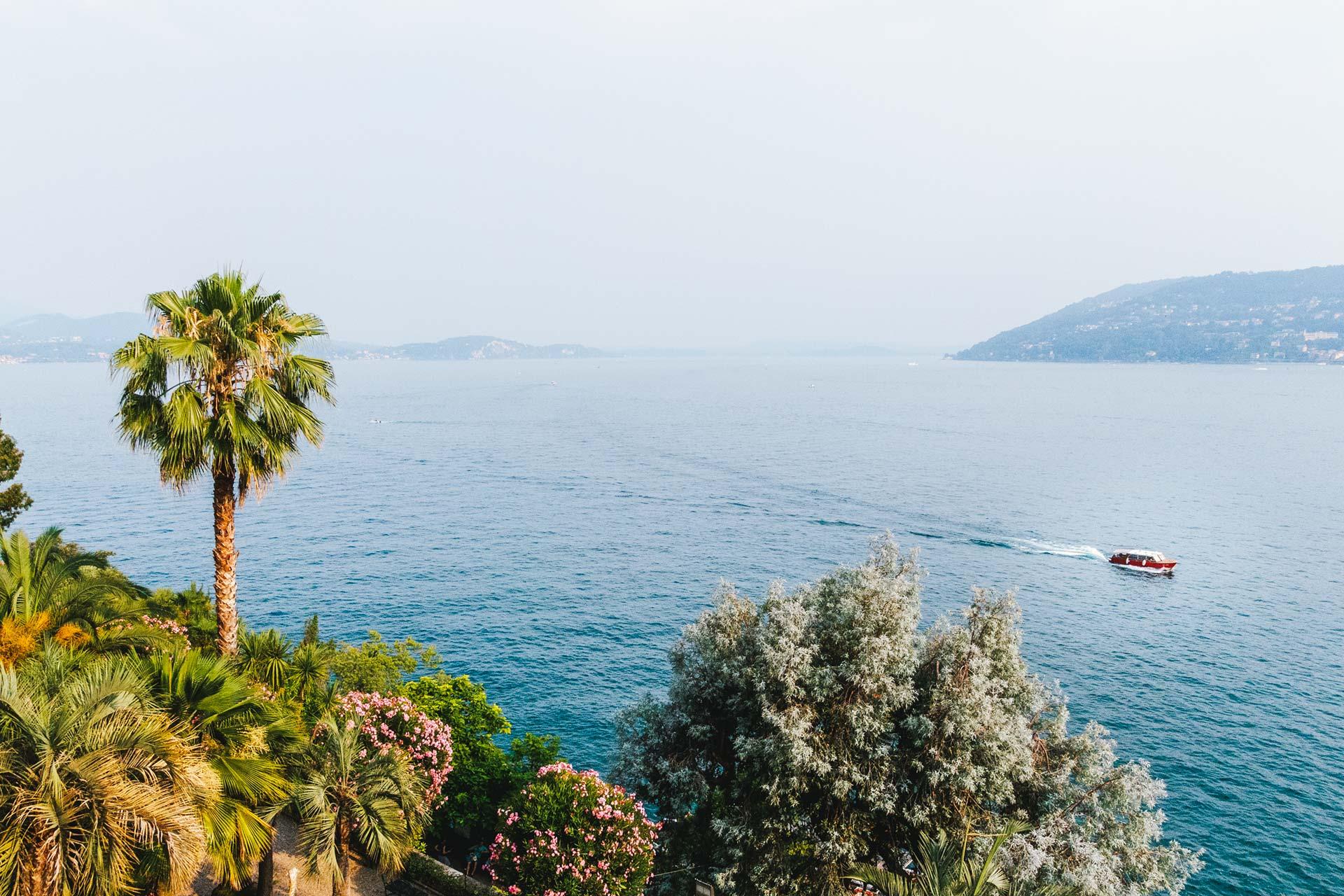 Der Borromäische Golf nordwestlich des Lago Maggiore.