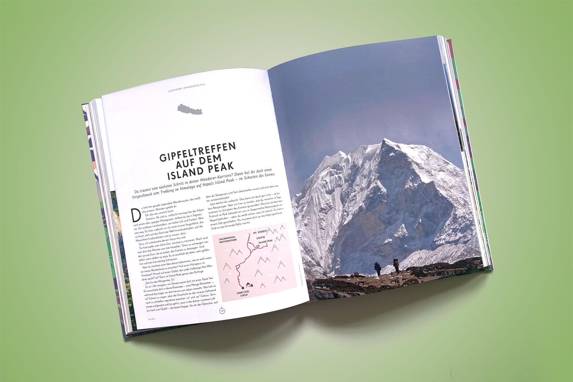 """Lonely Planet """"Legendäre Wanderrouten"""", Inhalt © Mairdumont Verlag, 2019"""