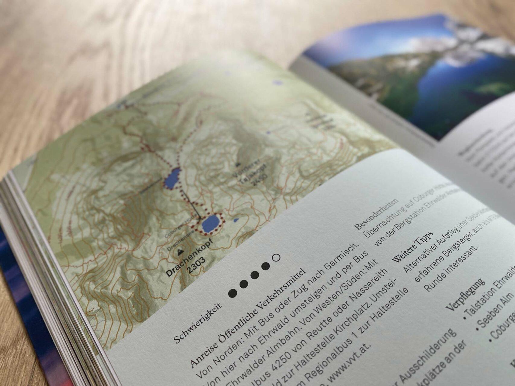 Detailreiche Infos & Karten für einen besseren Überblick – Mountain Moments von Marius Schwager, Detail © Eigenverlag, 2020