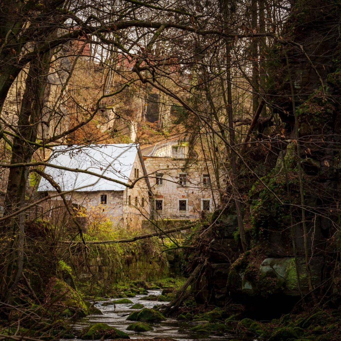 An der Lochmühle im Liebethaler Grund – Malerweg, Etappe 1