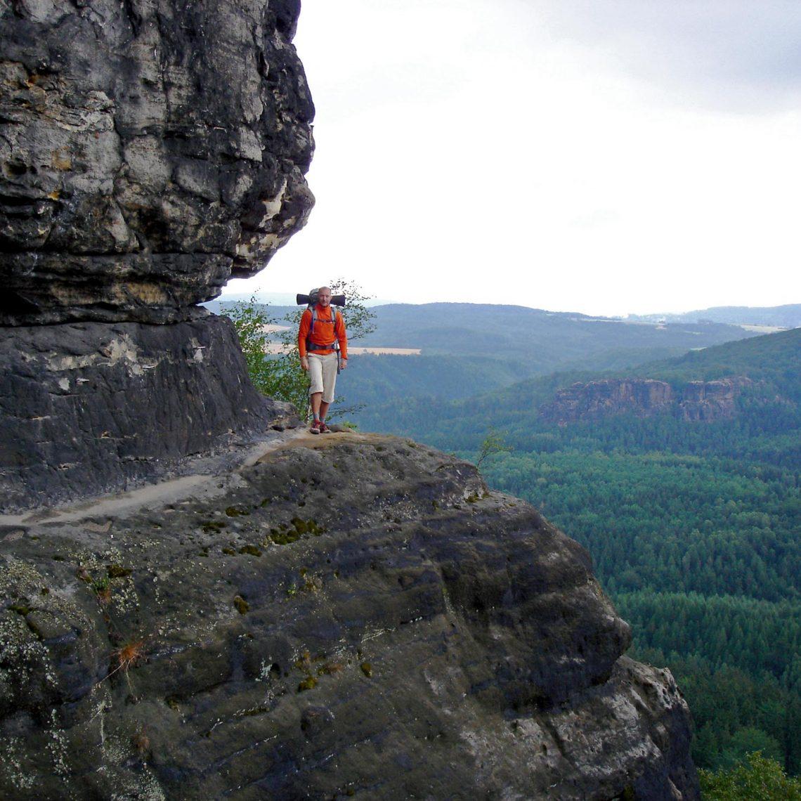 Um zur Ida-Grotte zu kommen heißt es ein wenig klettern.