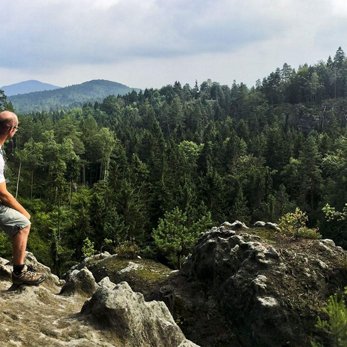 Auf dem Gipfel des Jedlina.